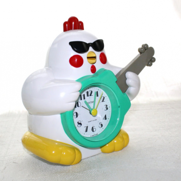 ... in box Rhythm Rock n Roll Singing Chicken Rooster Alarm Clock on Etsy