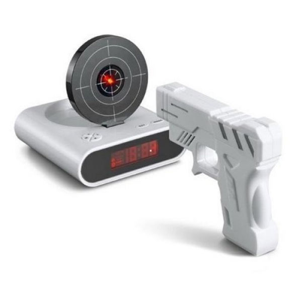 Gun O'Clock Shooting Alarm clock http://www.bossnotin.com/Computers-IT ...