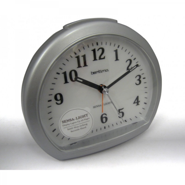 Clocks > Acctim Large Sweep Non-Ticking Alarm Clock