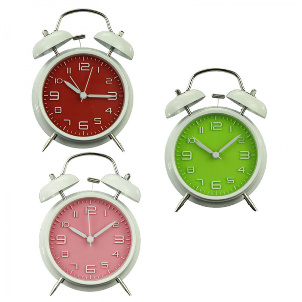 inch Retro Double Bell Bedside Silent Non Ticking Alarm Clock Loud ...