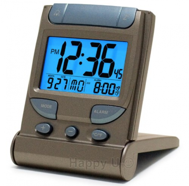 ... Clock with EL Backlight, Dual Time & Dual Crescendo Alarm with Snooze