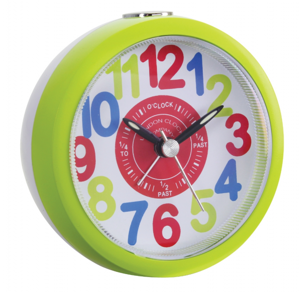 ... CLOCK COMPANY CHILDRENS KIDS TELL THE TIME BRIGHT SWEEP ALARM CLOCK