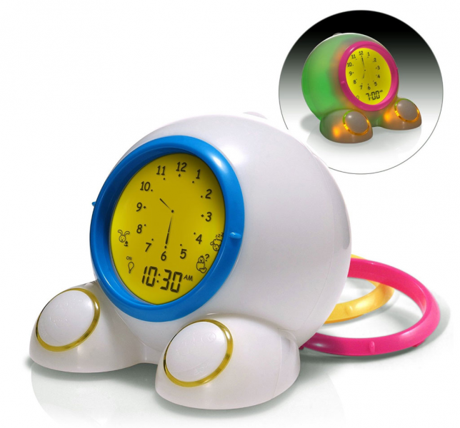 Three in one: alarm clock, time-teaching tool, and nightlight. view ...