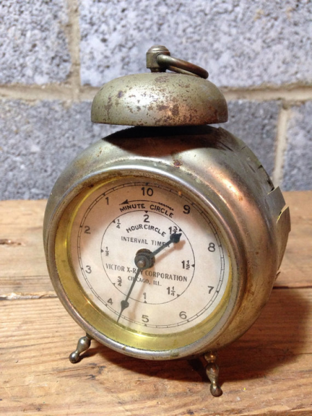Victor X-Ray Industrial Alarm Clock! Steampunk decor for display or ...