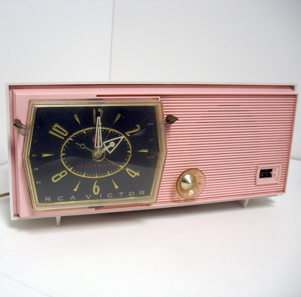 Vintage RCA Victor Pink Clock Radio Model C-2FE by That70sShoppe