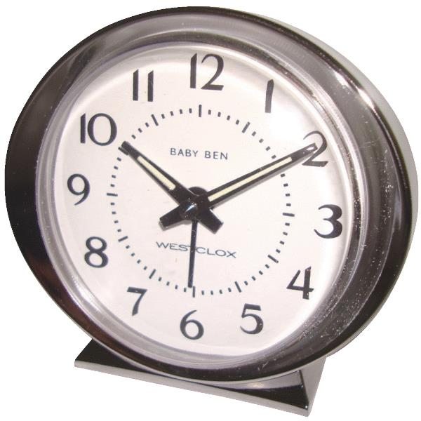 Nyl Holdings 11611A 1964 Baby Ben Keywound Alarm Clock White at ...