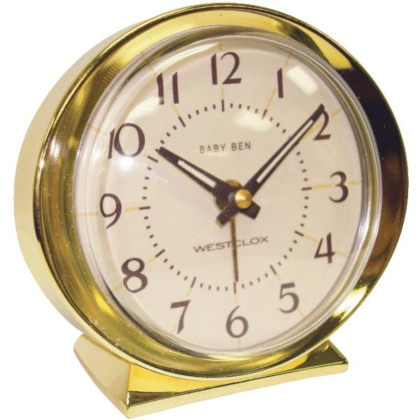 Nyl Holdings 11605A 1964 Baby Ben Keywound Alarm Clock Ivory at ...