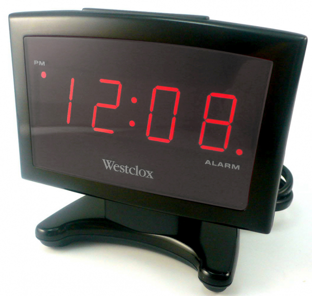 157739 Westclox 70014X LED Plasma Alarm Clock Black Nyl Holdings Llc ...