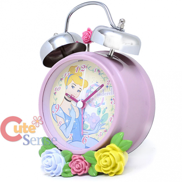 Details about Disney Princess Cinderella Bell Alarm Clock with Flowers ...