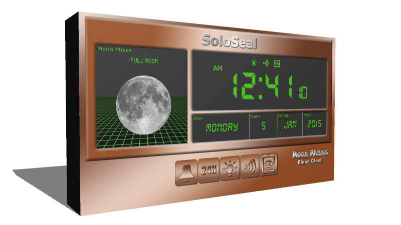description moon phase alarm clock is a digital alarm clock that also ...