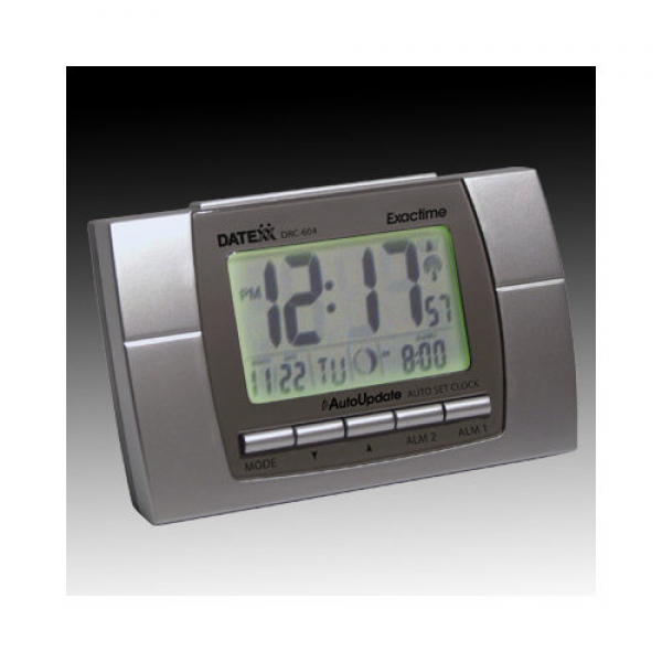 ... Radio Control LCD Alarm Clock with Calendar, Temperature, Moon Phase