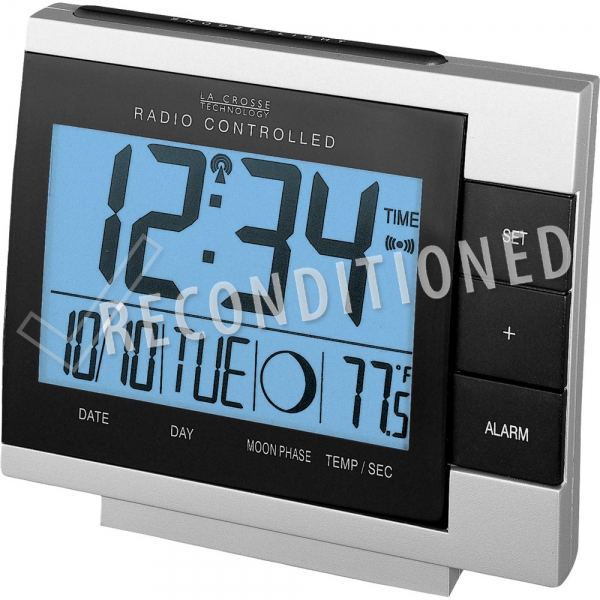 WS-8055U Atomic Digital Alarm Clock with Moon Phase RECONDITIONED