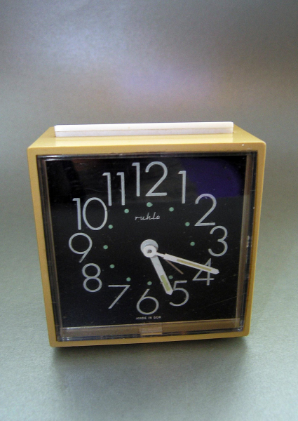 Vintage Alarm Clock 1960s 70s Works very well Made by RetroBerlin