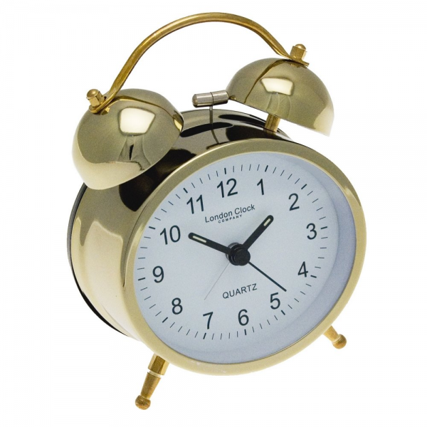 London Clock Co Traditional Gold Twin Bell Alarm Clock - London Clock ...