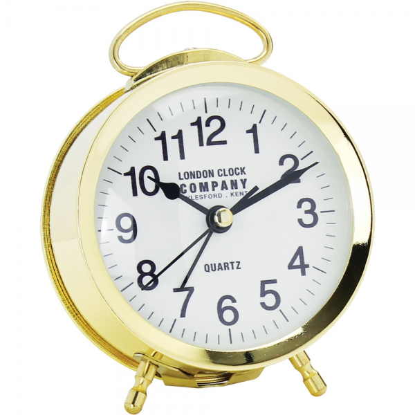 Retro Gold Alarm Clock 12cm