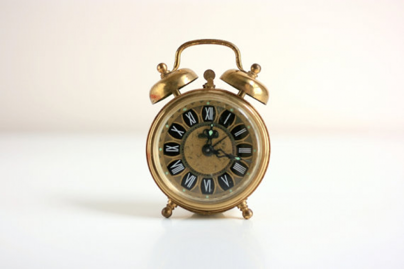 Vintage Gold Blessing Alarm Clock from West Germany by WiseApple