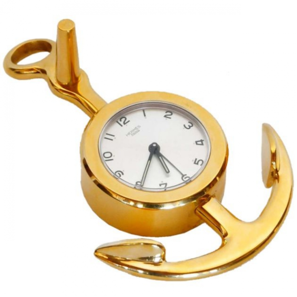 Hermes Gold Tone Anchor Alarm Clock | The 12th Art Association of htt ...