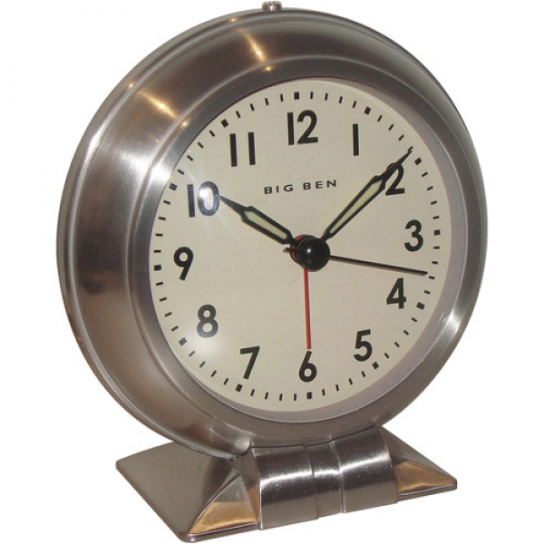 Big Ben Quartz Nickel Alarm Clock, Brushed Nickel - Walmart.com