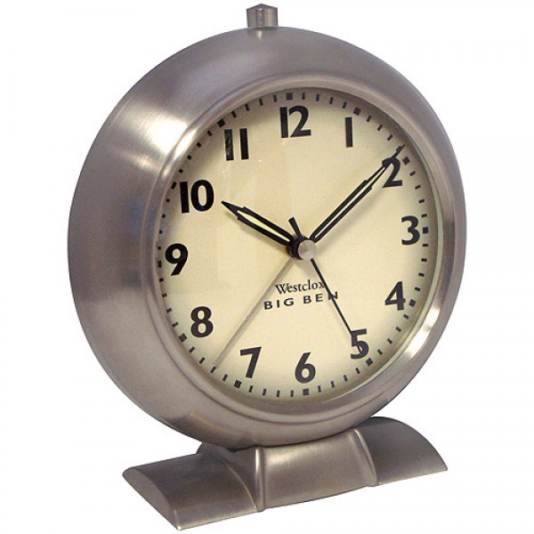 Big Ben 1939 White Dial Alarm Clock, Brushed Nickel - Walmart.com