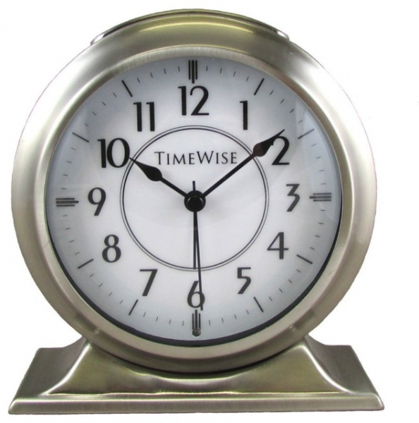 Alarm Clock - Collegiate Metal Alarm Clock Brushed Nickel traditional ...