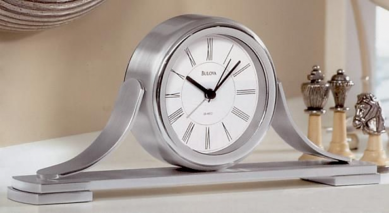 ... Polished and brushed chrome finish. Beep Alarm.. See More Table Clocks