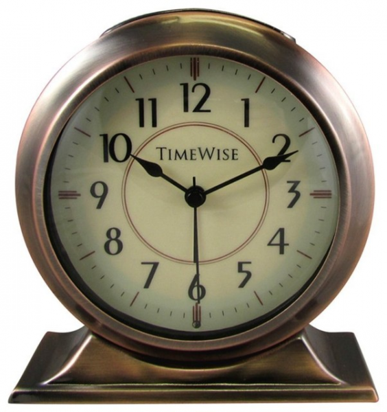 Alarm Clock - Collegiate Metal Alarm Clock Antique Copper traditional ...