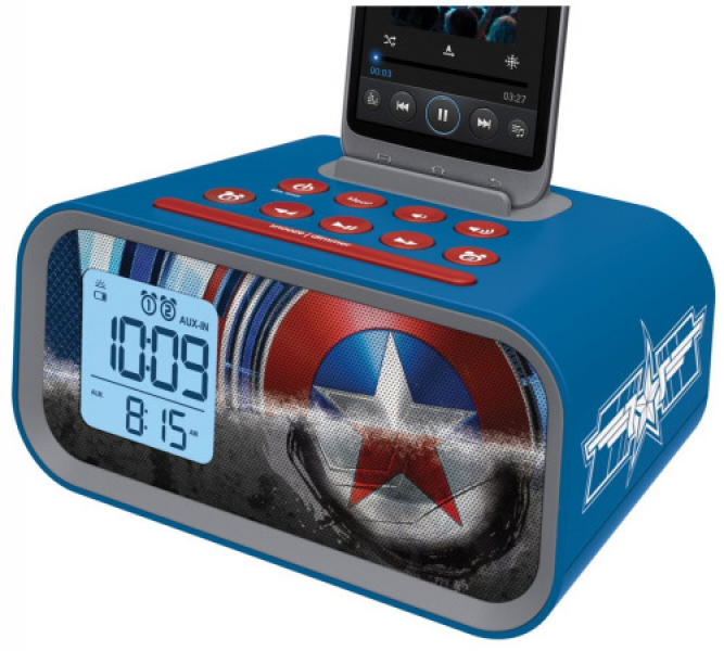 Captain America: The Winter Soldier Dual Alarm Clock Speaker System by ...
