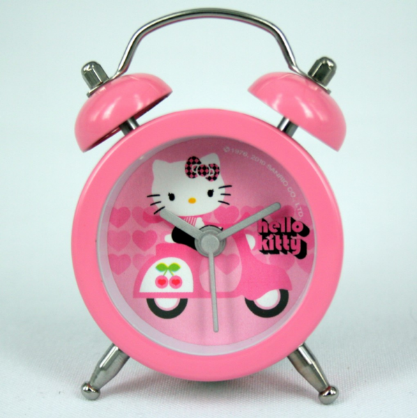 Details about Official HELLO KITTY MINI ALARM CLOCK-MOTORCYC LE