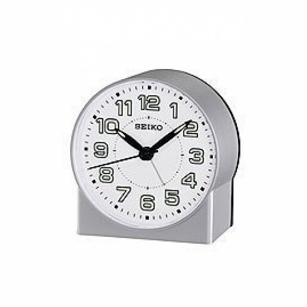 Seiko Seiko Clocks Quiet Sweep Bedside Alarm clock #QHE084SLH ...