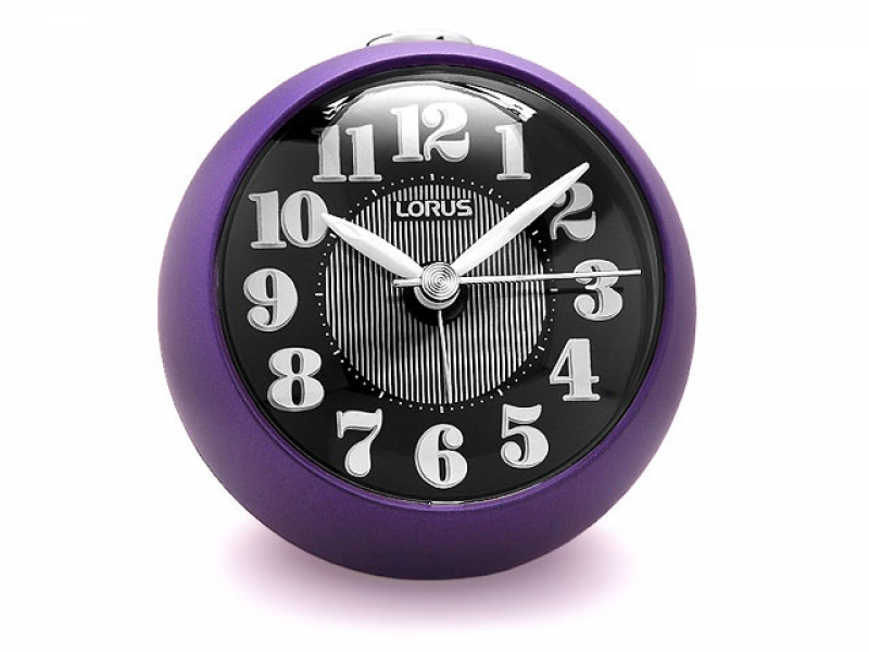 Lorus Purple Quiet Sweep ElectroLuminescent Alarm Clock - 030738