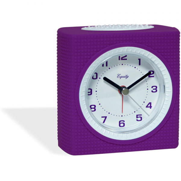 Equity Silent Sweep Analog Alarm Clock, Purple - Walmart.com