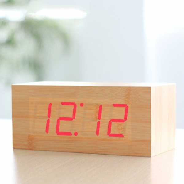 Wood Grain LED Alarm Clock | For your Home | Pinterest