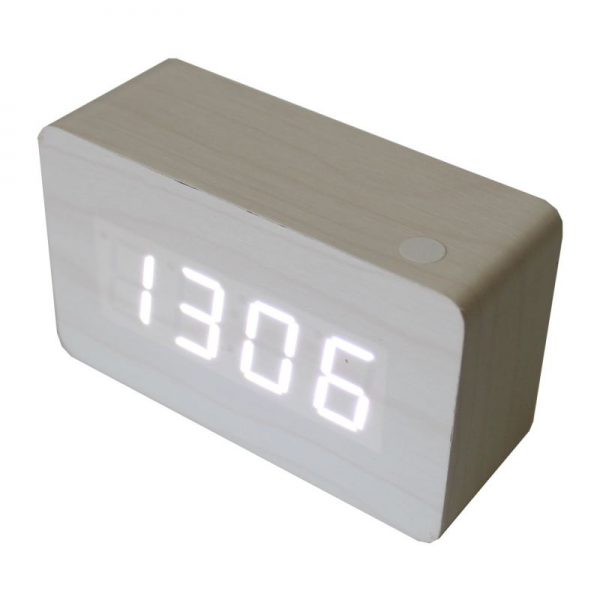 Wood Grain Portable Alarm Clock | Buy Digital Clocks