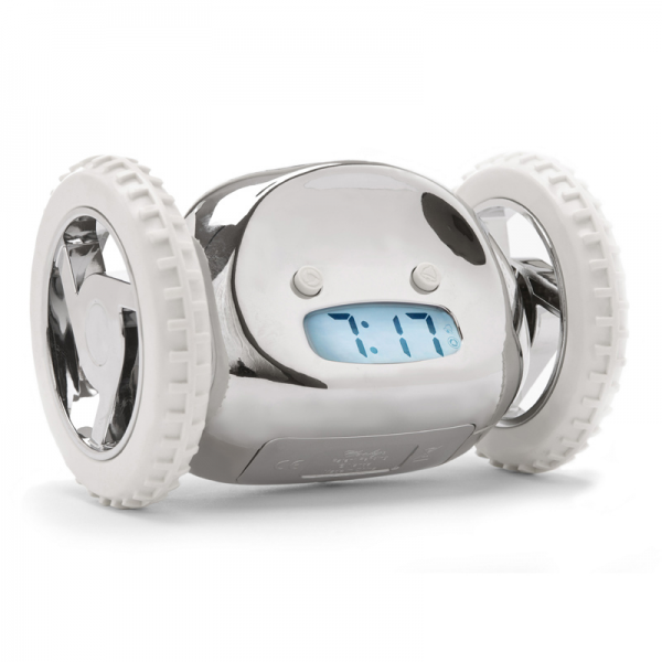 ... by Recipient > Gifts for Dad > Clocky Rolling Alarm Clock in Chrome