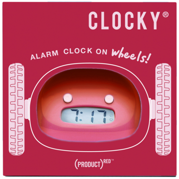 District17: Clocky Rolling Alarm Clock in Red: Clocks