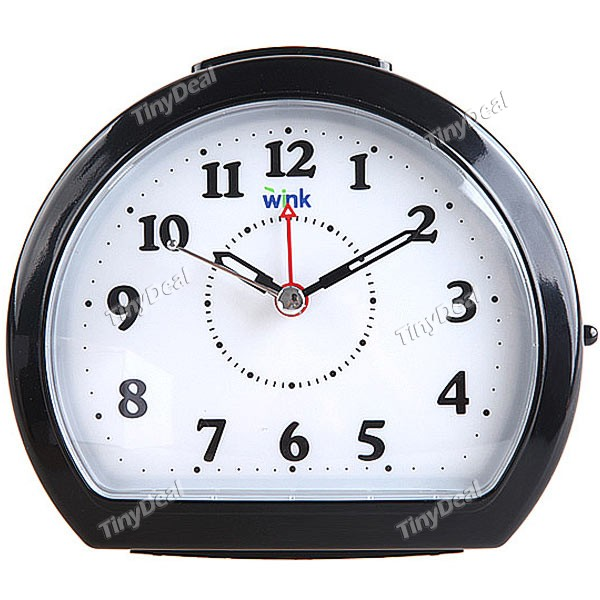 Silent Alarm Clock with Snooze + Intelligent Light - Black WTH-41536 ...