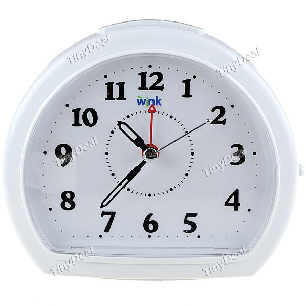 Silent Alarm Clock with Snooze + Intelligent Light - White WTH-41538 ...
