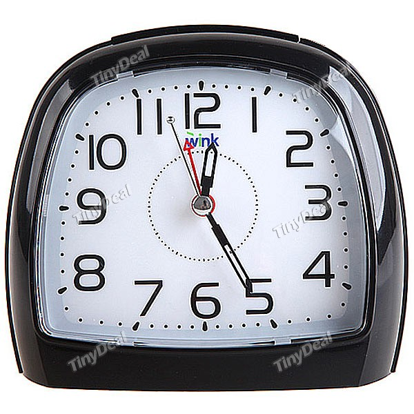 Silent Alarm Clock with Snooze + Intelligent Light - Black WTH-41537 ...