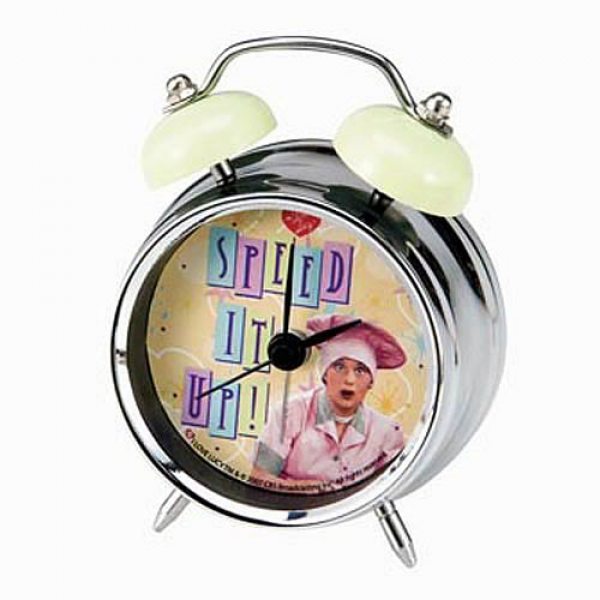 ... love lucy clocks i love lucy speed it up mini twin bell alarm clock