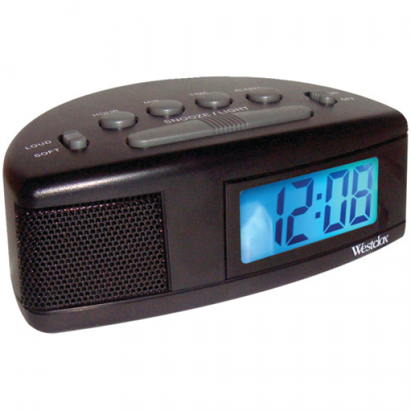 Westclox 47547 Super Loud LCD Alarm Clock with Blue Backlight ...