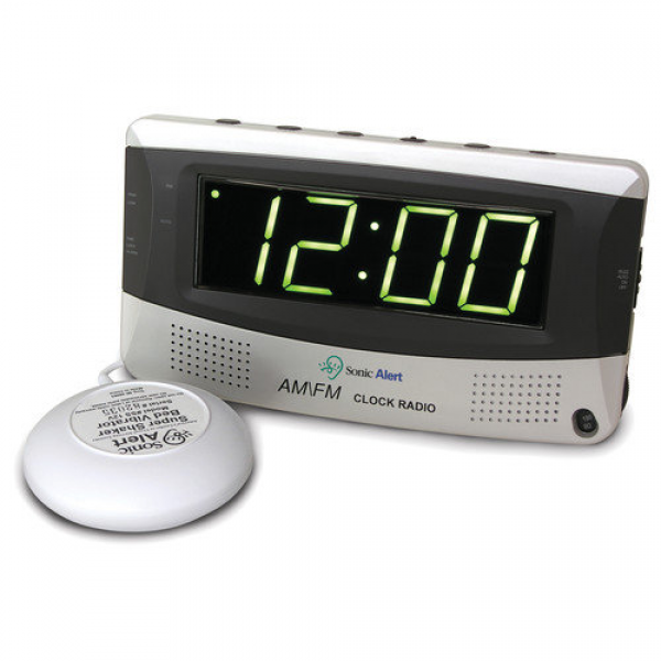 Sonic Alert Sonic Boom Vibrating Alarm Clock with AM/FM Radio ...