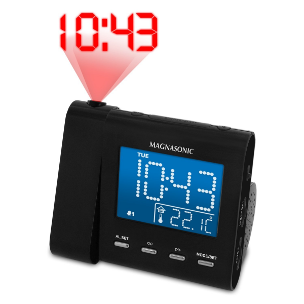 MAG-MM176K AM/FM Projection Clock Radio with Dual Alarm, Auto Time ...