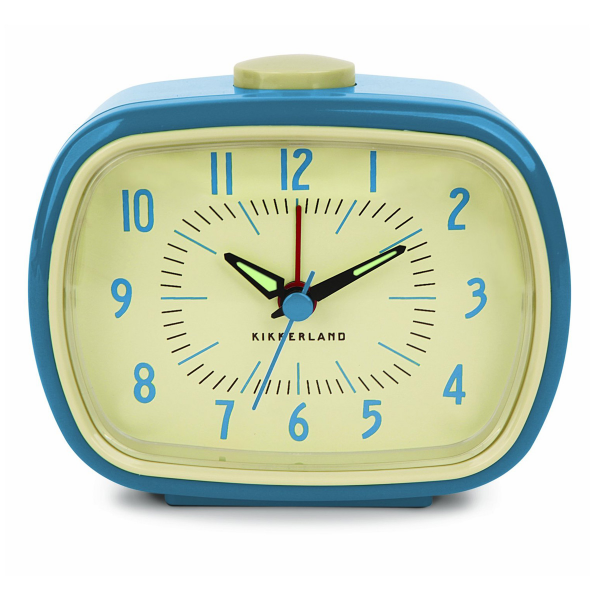 KIKKERLAND RETRO ALARM CLOCK BLUE