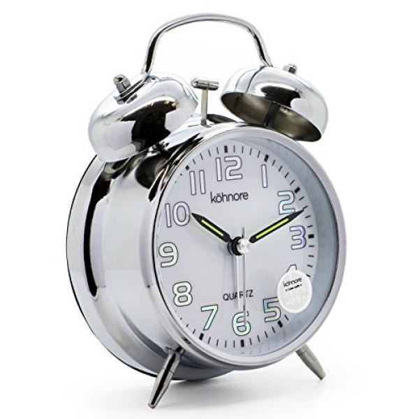 Non Ticking Sweep Second Hand Bedside Alarm Clock With...: Cool Alarm ...