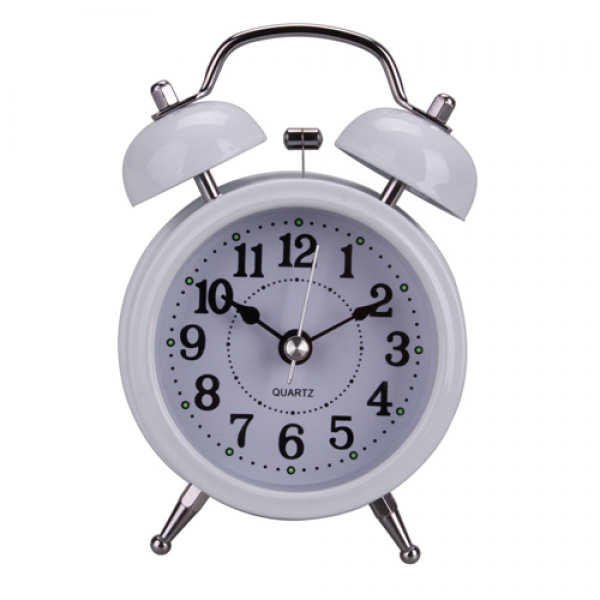 Details about New Antique Style Twin Bell Alarm Clock Glow in Dark