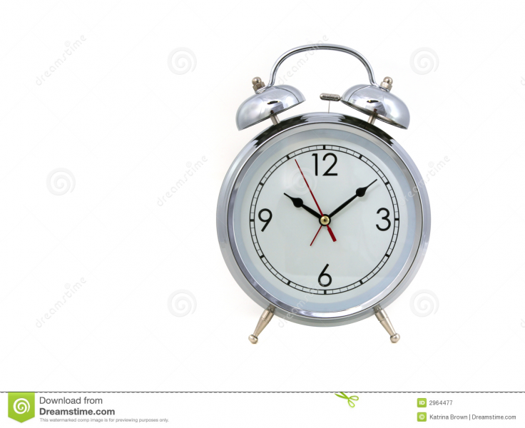 Vintage Bell Style Alarm Clock Royalty Free Stock Photography - Image ...