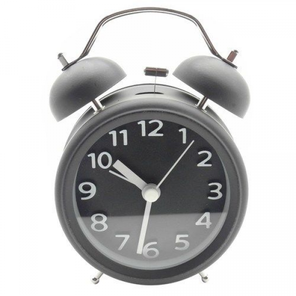 ... Analog Vintage Twin Bell Clock Heavy Sleeper Loud Alarm Black | eBay