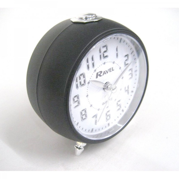 Clocks > Ravel Silent Sweep Quartz Retro Led Bedside Beep Alarm Clock ...