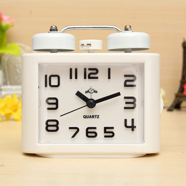 ... Quartz Movement Bedside Alarm Clock w/ Luminous Hands and Markers NEW
