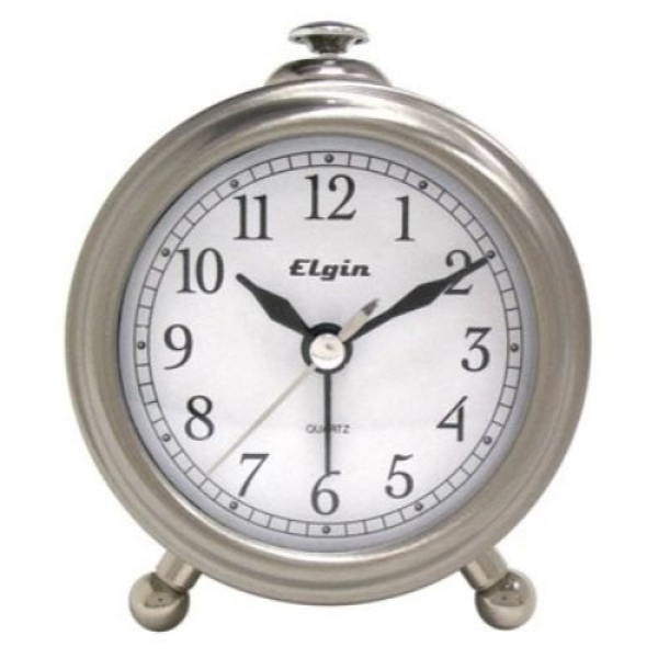 elgin 3514e bedside alarm clock bedside alarm clock with brushed ...